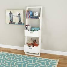 white leaning wall bookcase the land of nod