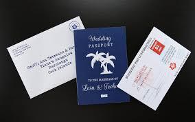 passport printed wedding invitation wedding invitations
