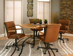 Casters For Dining Room Chairs Dining Chairs Casters Swivel Casual With Chromcraft And Arms Uk