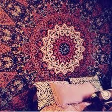 Tapestry Duvet Psychedelic Star Mandala Indian Duvet Doona Cover Hippie Boho