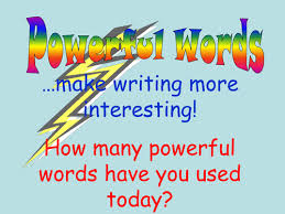 powerful words lists by mrs m teaching resources tes