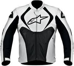 white motorcycle jacket alpinestars jaws perforated leather motorcycle jacket black white