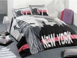 New York Bed Set 100 Cotton 3pcs New York City Single Quilt Duvet Cover