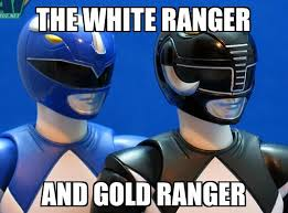 Black Power Ranger Meme - the white and gold ranger thedress what color is this dress