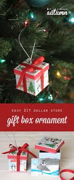 easy diy gift box ornaments from the dollar store