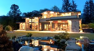 beautiful modern craftsman style outside vancouver bc canada