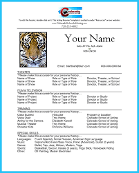 Musical Theater Resume Template Free Resume Templates Template Google Doc Blue Gray High With 87