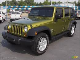 2007 green jeep wrangler 2007 rescue green metallic jeep wrangler unlimited x 16896783