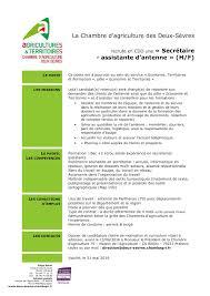 chambre d agriculture 05 calaméo icssa offre cdd sec assistante parthenay