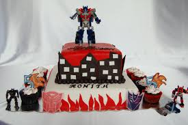 transformer cake customised cakes by jen two tiered transformer cake