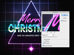 christmas artwork in photoshop