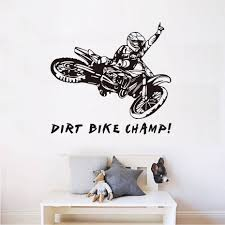 online shop dirt bike champ quotes wall sticker motorcycle rider