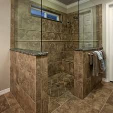 Handicapped Bathroom Showers Let The This Gray Shower With Interlocking Slate Tiles On