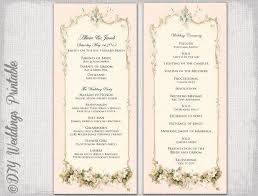 vintage wedding programs 8 vintage wedding program templates psd vector eps ai