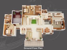 3d plan for a 4 bedroom house beach houses barbados 3d floor plan