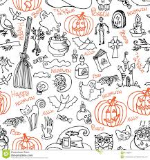 free halloween icon halloween icons and text seamless pattern doodles sketchy stock