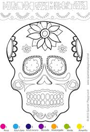 day of the dead crafts and activities spanish colors easy