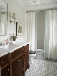Phoebe Howard Elegant Bathroom Design With Marble Basketweave - Floor to ceiling bathroom vanity