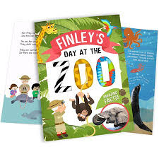 my day at the zoo personalised book personalised books
