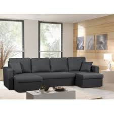 canapé anthracite modern sofa canapé panoramique convertible gris anthracite venus
