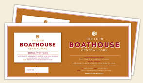 restaurant gift cards the loeb boathouse central park
