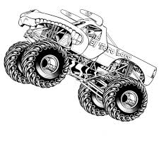 wheels monster truck coloring pages children pinterest