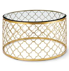 coffee table cool round gold coffee table designs glass and gold