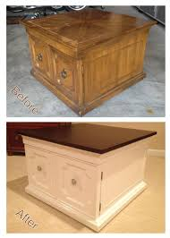 Refurbished End Tables by An Old And Worn End Table Originally From Goodwill Sanded Down