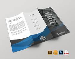 brochure template etsy