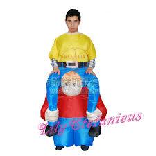 Piggyback Halloween Costume Chub Dwarf Riding Piggyback Inflatable Jumpsuit Blow