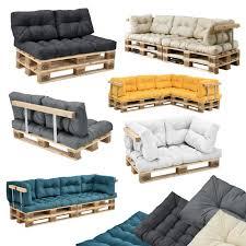 canap en palette avec dossier en casa canapé de palette avec coussins kit complète incl