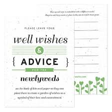 wedding well wishes cards green well wishes and advice favor card