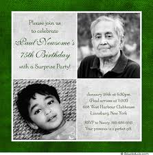 75th birthday invitation green u0026 gray party two photos 75th