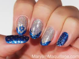 hanukkah nail maryam maquillage a festival of lights glitter and nail