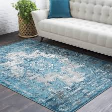 Rose Area Rug Bungalow Rose Sharpes Teal Area Rug Reviews Wayfair Living Room