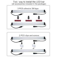 How To Hardwire Under Cabinet Lighting by Litever Under Cabinet Led Light Bar Kits Plug In 3 Pcs 12 Inches