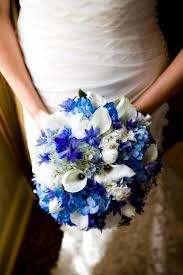 wedding flowers blue and white a mix of blue with white bouquet wedding flower