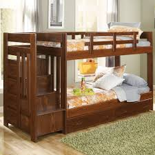 Stair Bunk Beds Woodcrest Heartland Reversible Stair Bunk Bed