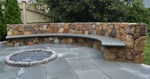 stone patio bench design u2014 unique hardscape design long lasting