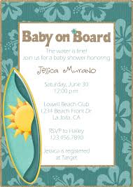 beach theme baby shower invitations reduxsquad com