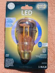 ge led light bulbs vintage style dimmable 25w replacement 2 5w ge led light bulb st15