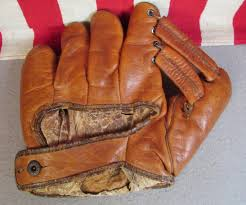 Hutch Baseball Gloves Vintage 1930s Worthington Leather Baseball Glove Double Tunnel