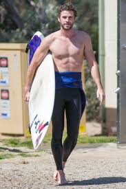 surfer halloween costume liam hemsworth spotted surfing in australia instyle com