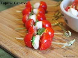 canape recipes caprese canapé recipe culicurious