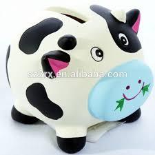 His And Hers Piggy Bank Custom Cow Shape Piggy Bank Pvc Cow Piggy Bank Cow Money Box For