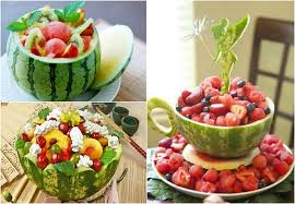 table decoration ideas summer watermelon bowls salad