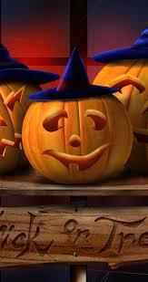 pumpkin iphone wallpaper happy three pumpkins hd halloween wallpaper