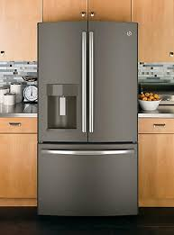 what color cabinets with slate appliances product insight ge slate refrigerators sears