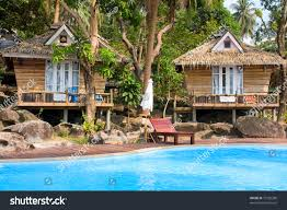 beautiful tropical beach house thailand stock photo 75120280