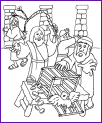 temple coloring page jesus and money changers coloring page kids korner biblewise